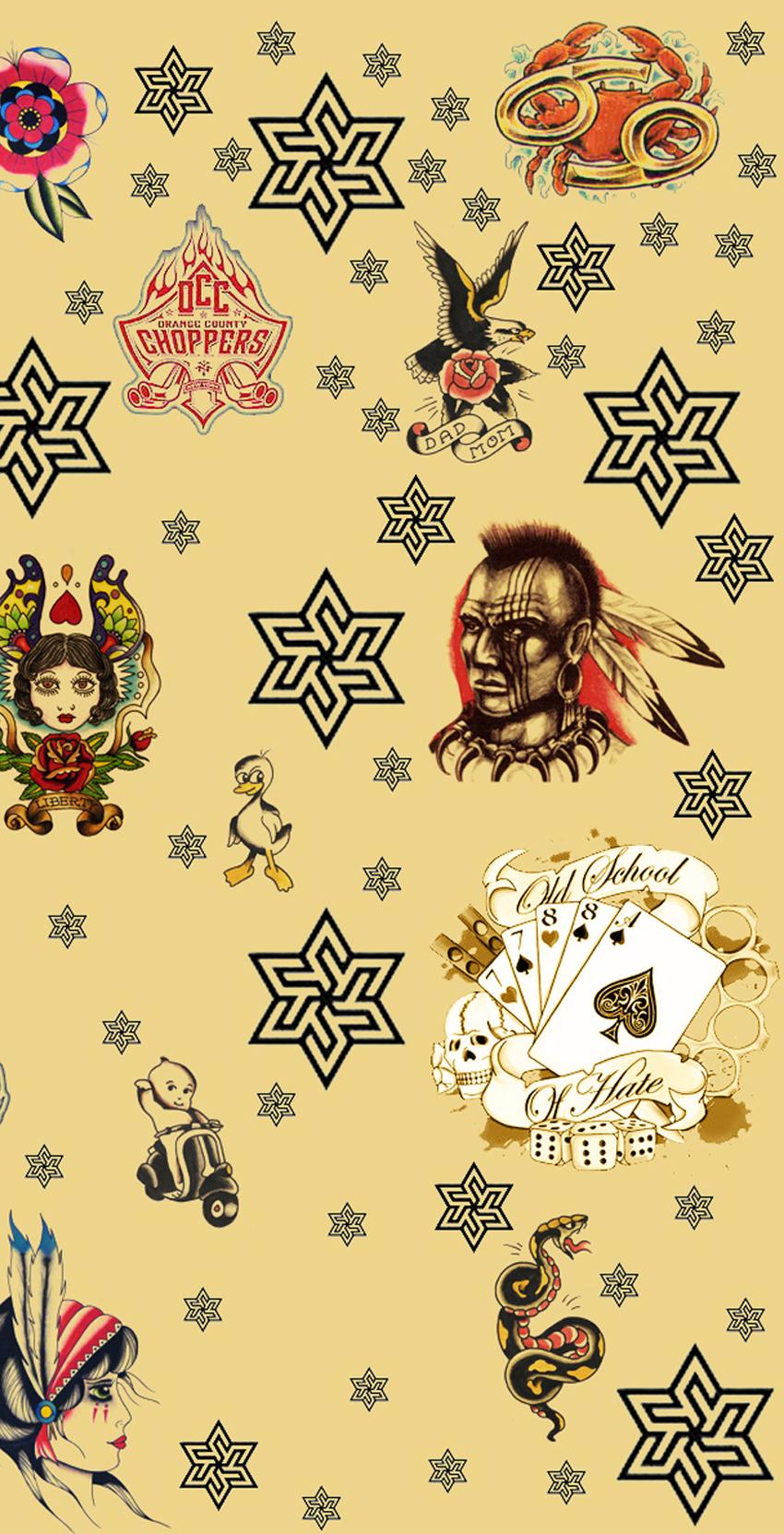 手机qq空间背景纹身图片展示