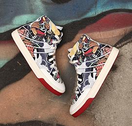 轻效滑板涂鸦鞋