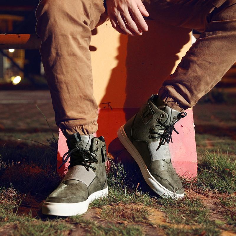 是非浅灰 致青春3.0高帮男休闲鞋