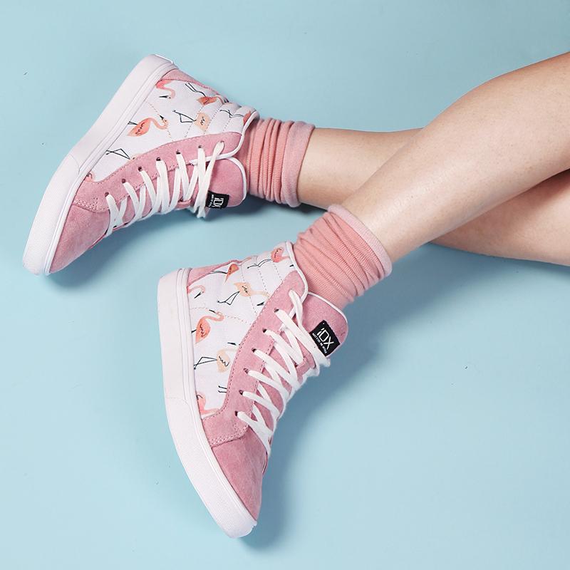 粉紅火烈鳥 IDX New Sk8中幫女涂鴉鞋