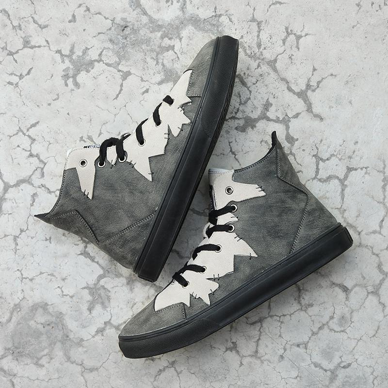 裂變  灰色超纖高幫鞋  女