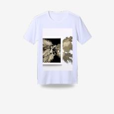 獅吼 圓領印花純棉T恤