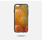 秋·望北 iphone手機 UV彩印黑邊軟殼手機殼