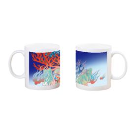 山河錄-深林藍-骨瓷馬克杯