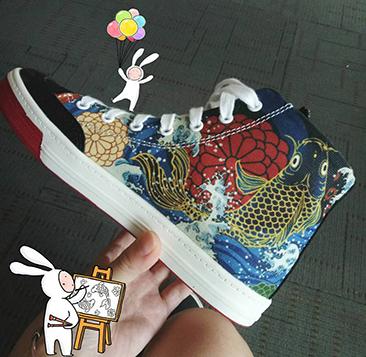 小上海 男女款 高幫涂鴉帆布鞋