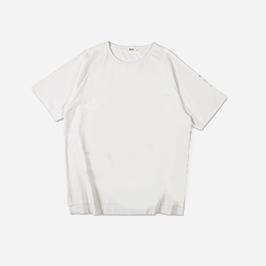 男款時尚斜肩短袖印花T恤