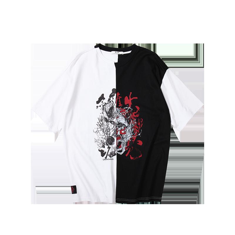 火魔 陰陽色 印花涂鴉短袖T恤